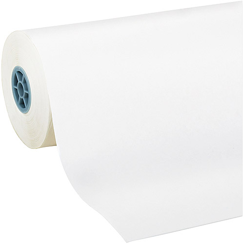 "Pacon Kraft Paper Roll, ., 24"" x 1000 ft, White"