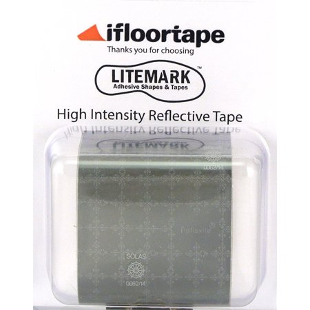 Solas Type - LiteMark | Silver SOLAS | Intense Light Focusing | Marine Quality Reflective Tape | 2 x 36 Inch Roll