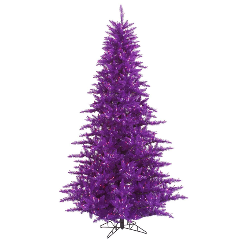 12' Pre-Lit Passion Purple Fir Artificial Christmas Tree - Purple Lights