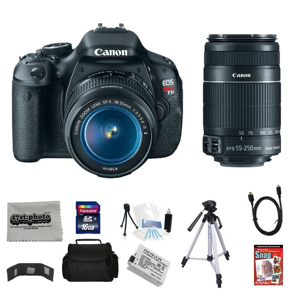 Canon EOS Rebel T3i 18 MP CMOS Digital SLR Camera with EF...