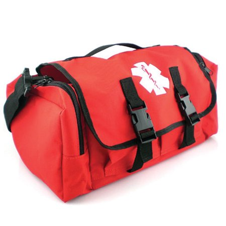 LINE2design First Aid Medical Bag - EMS EMT Paramedic Economical Tactical First Responder Trauma Bag Empty - Portable Outdoor Travel Jump Rescue Bags - Red Ems Trauma Kits