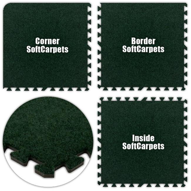Alessco SCEG0420 SoftCarpets -Emerald Green -4  x 20  Set