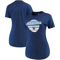 Minnesota Timberwolves Sportiqe Women's Phoebe Super Soft Tri-Blend T-Shirt - Navy