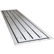 ARC LD2150-BS Linear Drain Assembly with Slotted Grate and Shallow Cover, Stainless Steel