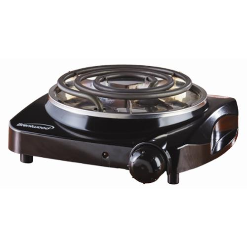 Brentwood Appliances TS306 1200 Watts Single Electric Burner - Black