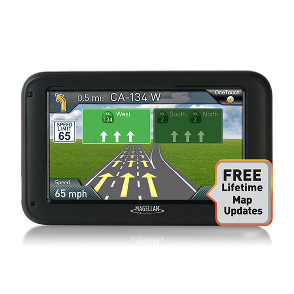 "Refurbished Magellan RoadMate 5320-LM 5.0"" Touchscreen Free Map Updates Portable GPS System"