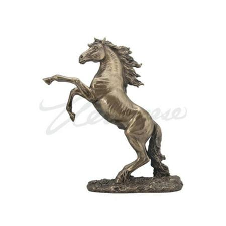 Veronese Design WU76028A1 Rearing Stallion Cold Cast Statue Figurine  Bronze Studio Cast Designs