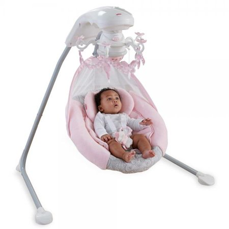 Fisher Price Cradle Swing Rose Chandelier Baby Girl Sleep Nap Play