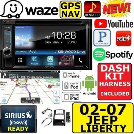 02-07 LIBERTY KENWOOD WAZE NAVIGATION APPLE IPHONE ANDROID BLUETOOTH CAR  STEREO