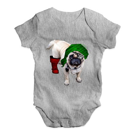 Pirate Funny Infant Bodysuit - Funny Infant Baby Bodysuit One-Eyed Pirate Pug Baby Unisex Baby Grow Bodysuit