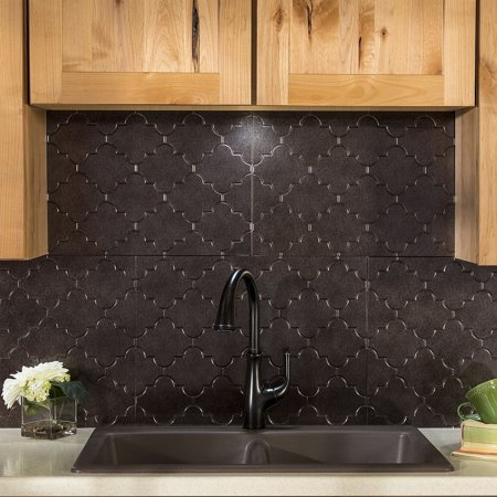 Astonishing Fasade Monaco Smoked Pewter 18 Square Foot Backsplash Kit Download Free Architecture Designs Salvmadebymaigaardcom