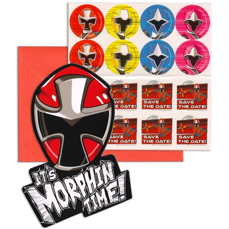 Power Rangers Ninja Steel Its Morphin Time Birthday Party Invitation 16 Count Save the Date - Ninja Turtle Party Invitations