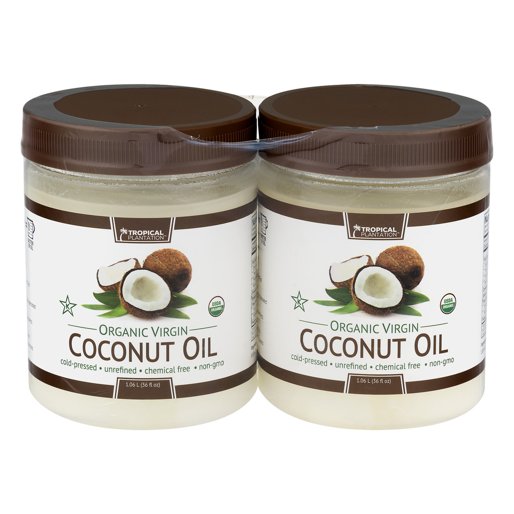 Coconut Oil Organic - 2 PK, 72.0 OZ