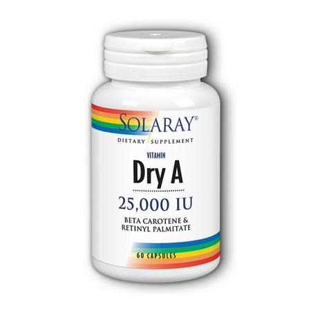 Solaray Dry Vitamin A 25000 IU - 60 -