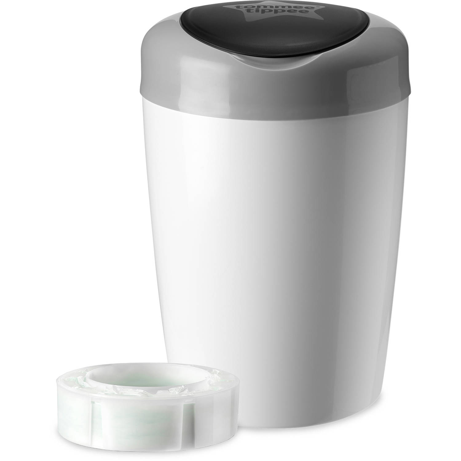 Tommee Tippee Simplee Diaper Pail + 1pk Cassette, Gray by Tommee Tippee