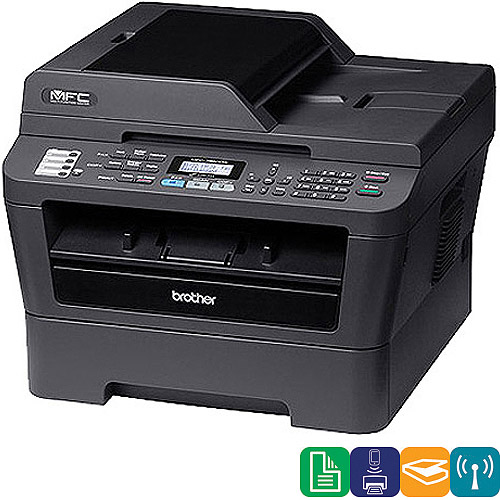 brother GE2334B Brother Printer MFC7860DW Wireless Monochrome Printer with Scanner, Copier & Fax