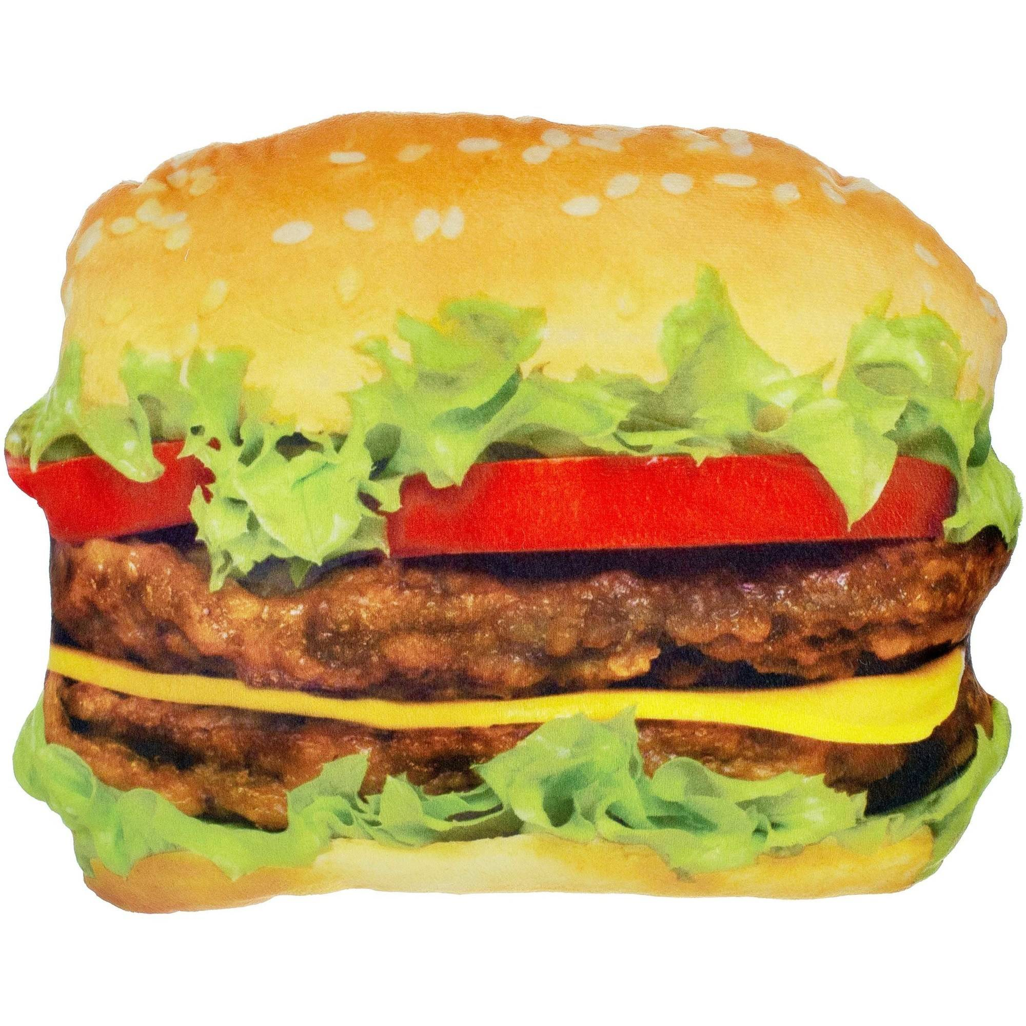 Hamburger Plush Photo Real  Pillow