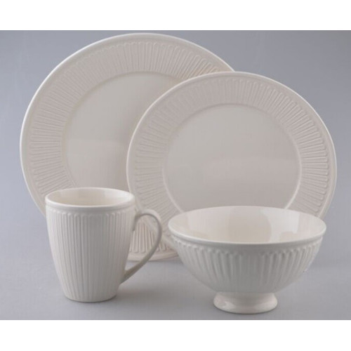 Over And Back Juliette 16 Piece Dinnerware Set Walmartcom  sc 1 st  Castrophotos : over back dinnerware - pezcame.com