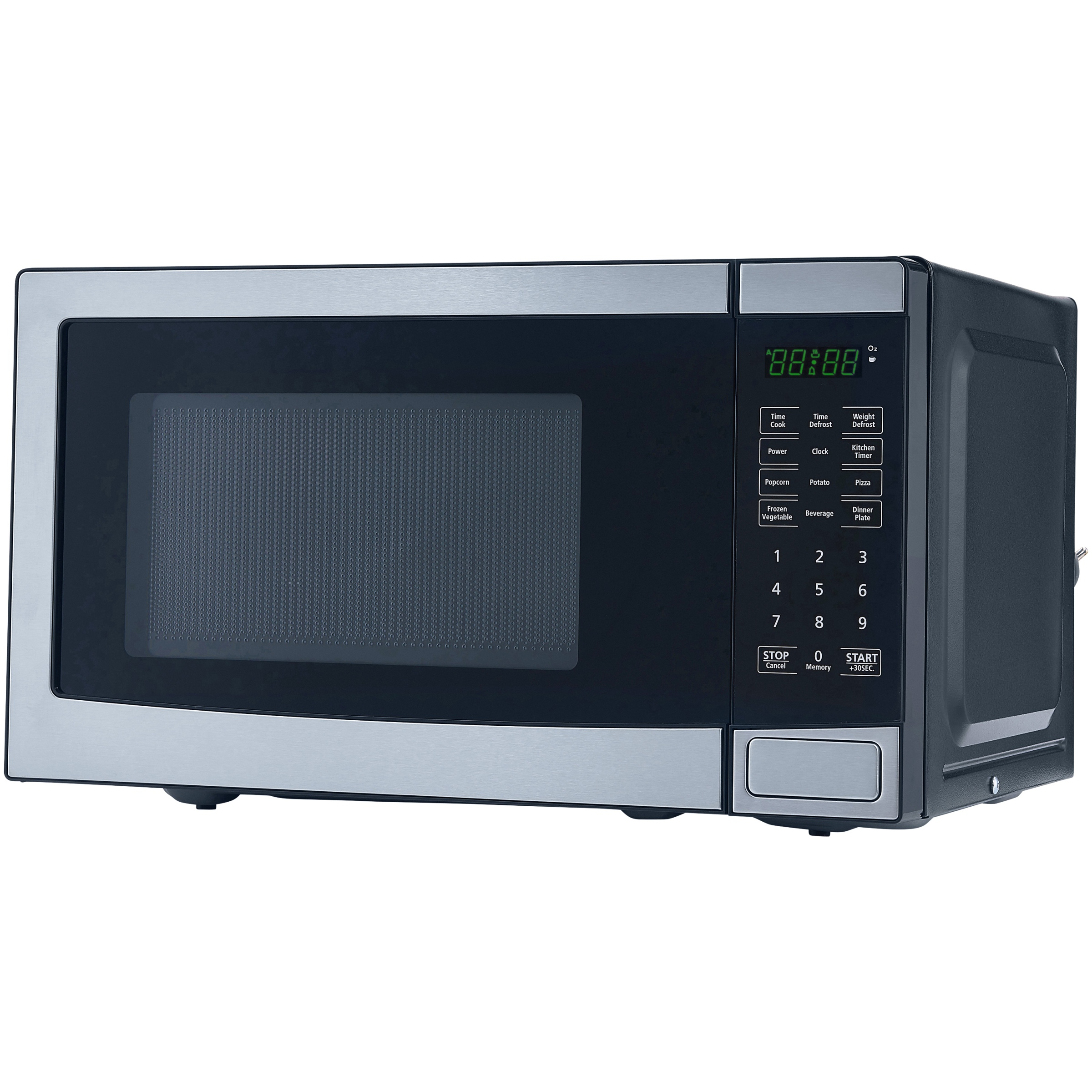 Mainstays 0.7 Cu. Ft. 700W Stainless Steel Microwave with 10 Power Levels