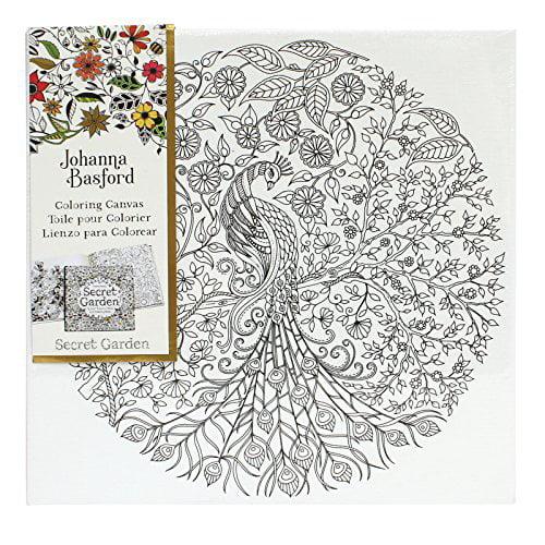 - Johanna Basford Secret Garden Coloring Canvas - Peacock - Walmart.com -  Walmart.com
