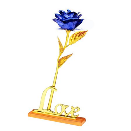 Gold Plated Rose Flower Handmade Valentine's Day Party Home Decor Flowers ()