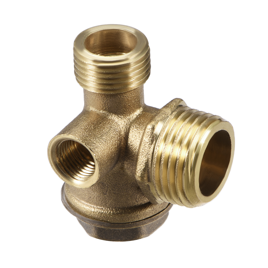 "Air Compressor Check Valve Right Female Threaded Brass 1/8"" x 3/8"" x 1/2"" 3Pcs - image 2 of 3"