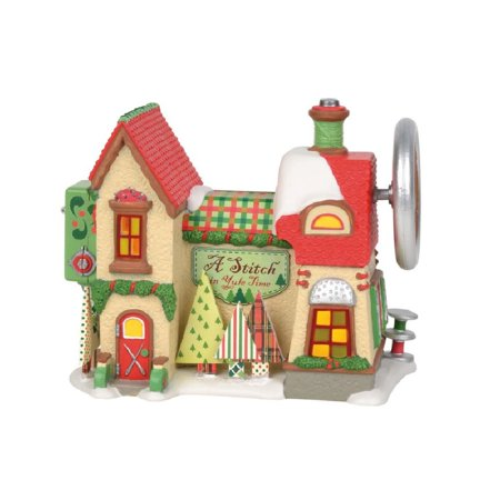 Department 56 North Pole Village A Stitch In Yule Time Building Figurine 6003111 Department 56 Heritage Village