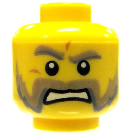 LEGO Minifigure Parts Male Head with Friendly Muttonchops Loose Head [Loose] - Muttonchop Sideburns