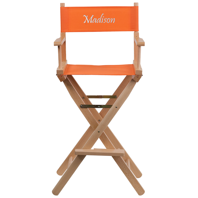 Flash Furniture Personalized Bar Height Directors Chair i...