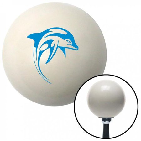 Blue Marine Dolphin No. 2 Ivory Shift Knob with M16 x 1.5 Insert Shifter Auto Manual Brody - image 1 of 1