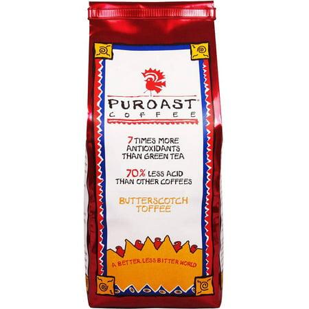 - Puroast Coffee Butterscotch Toffee Ground Coffee, 12 oz