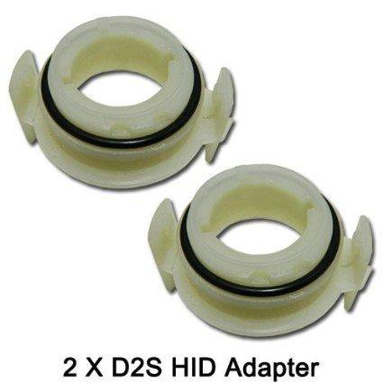 Xotic Tech D2S HID Bulbs Holders Adapters For Halogen Headlights 1999-2006 BMW E46 3 Series