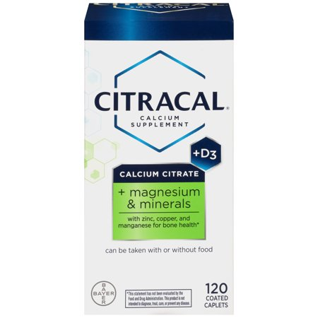 Citracal Plus Magnesium & D3 Calcium Citrate Caplets, 120 Count ...