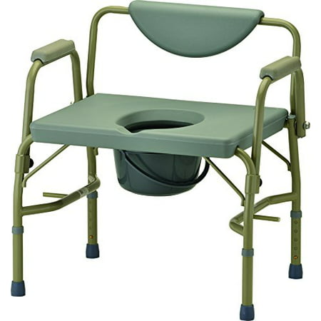 Nova Medical Products Heavy Duty Commode With Drop Arm  Grey  22 Pound