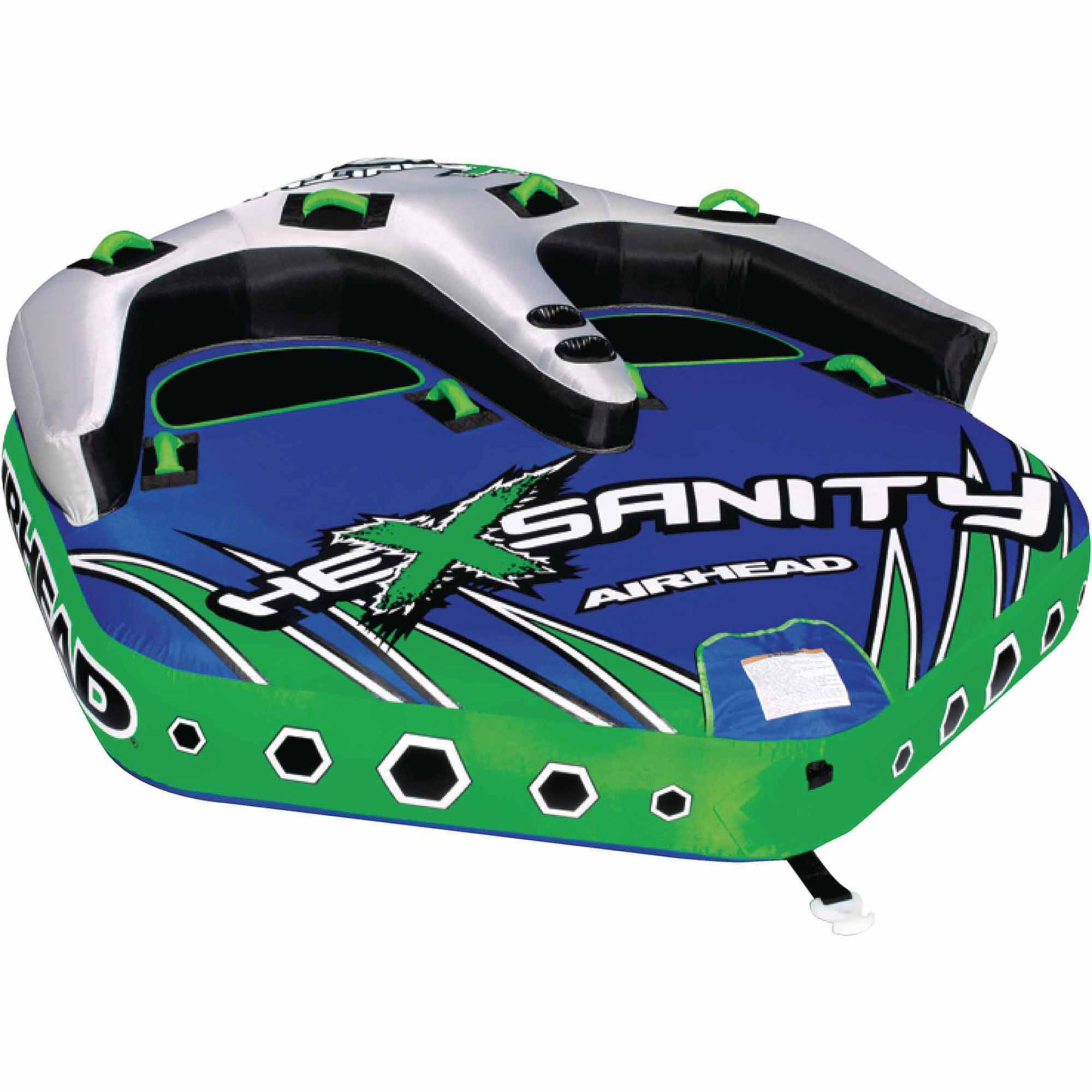 Airhead Hexsanity Inflatable Double Rider Towable by Kwik Tek