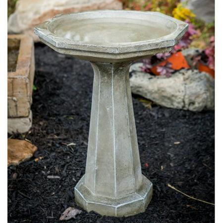Athena Garden Cast Stone Large Octagon Bird Bath ()