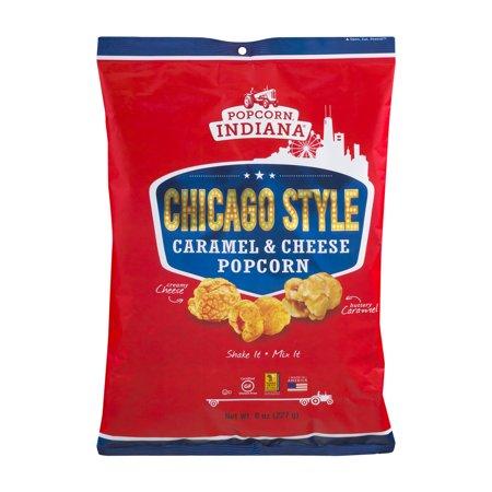 Popcorn, Indiana Chicago Style Caramel & Cheese Popcorn, 8 ...