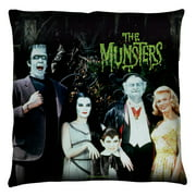 The Munsters Family Throw Pillow White 26X26