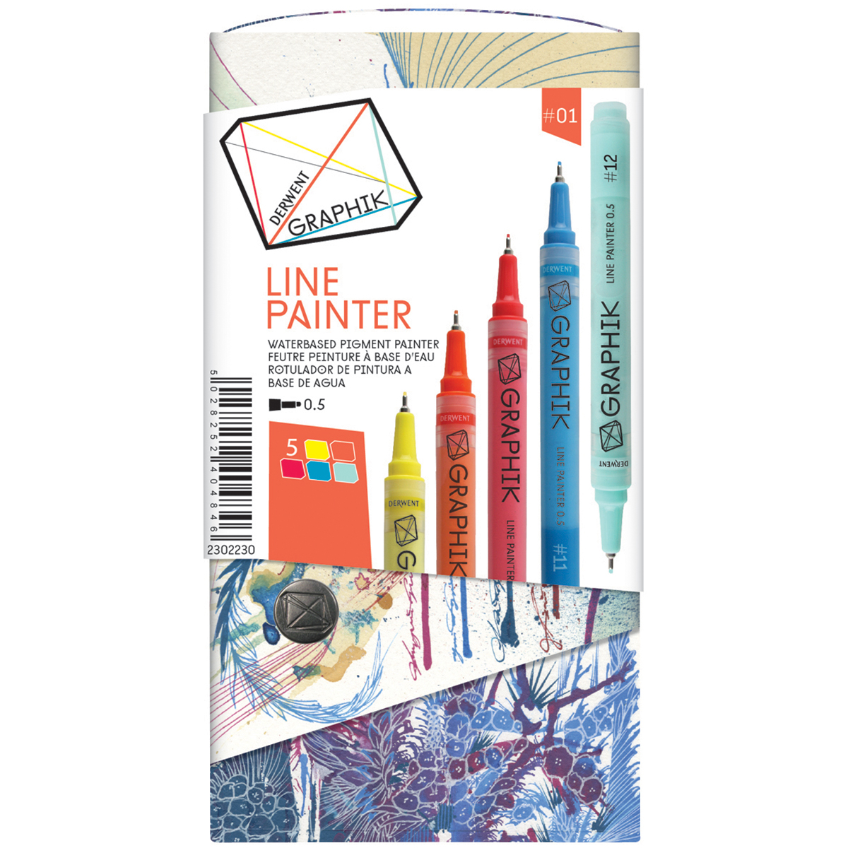Derwent Graphik Line Painter Set 5/Pkg-Palette #1
