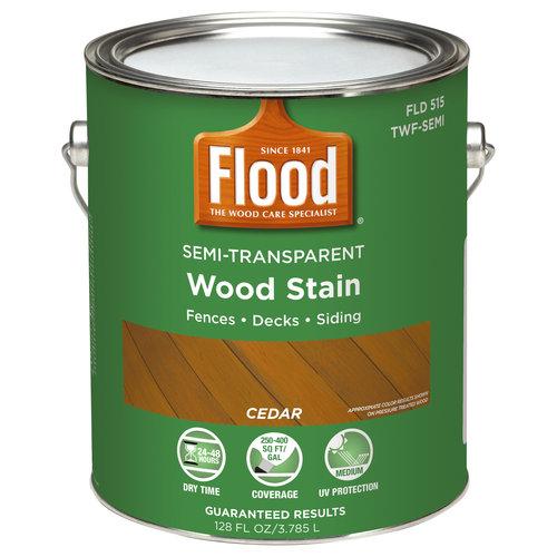 Flood Semi-Transparent Wood Finish, Cedar, 1 gal