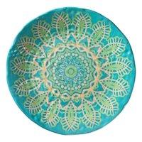 "Merritt Medallion Salad 9"" Plate, Lace Turquoise"