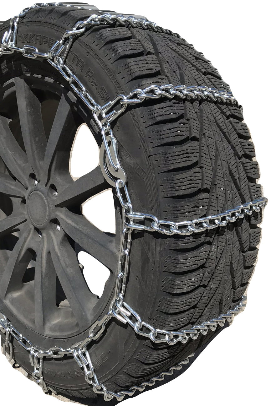 TireChain.com P205//75R15 P205//75 15 TUV Diamond Tire Chains Set of 2