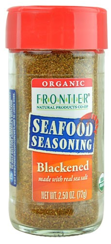 Frontier Blackened Seafood Seasoning, Certified Organic, 2.5 Oz by Frontier