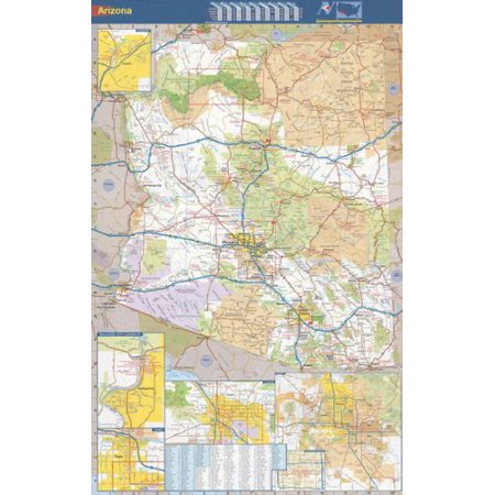 - 36x56 Arizona State Official Executive Laminated Wall Map