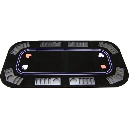 3 in 1 Poker Blackjack and Roulette Folding Table Top w/ Cup Holders (Blackjack Table Top Felt)
