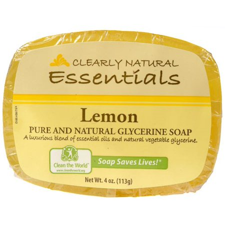 Clearly Natural Glycerine Bar Soap, Lemon, 4 Oz