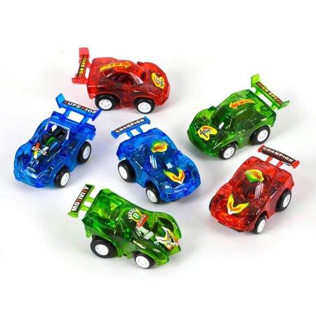 RN VEPULL3-12 0885949654305 12 Pull Back Racer Cars, Pack, Multi Colored Rhode Island Novelty