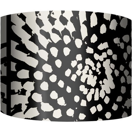 12 Quot Drum Lamp Shade Black And White Flower Burst