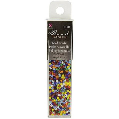 - Cousin Jewelry Basics Glass Seed Beads Seed Beads, 1.1 oz-11/0