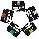 Airmall 5 Pack Compatible for Brother Ptouch Label Tapes ...